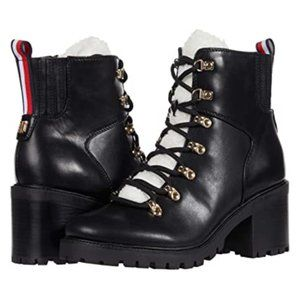 Tommy Hilfiger Faux Shearling Lace Up Boot S-10